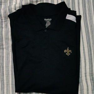 New Orleans Saints Reebok polo. Size XXL